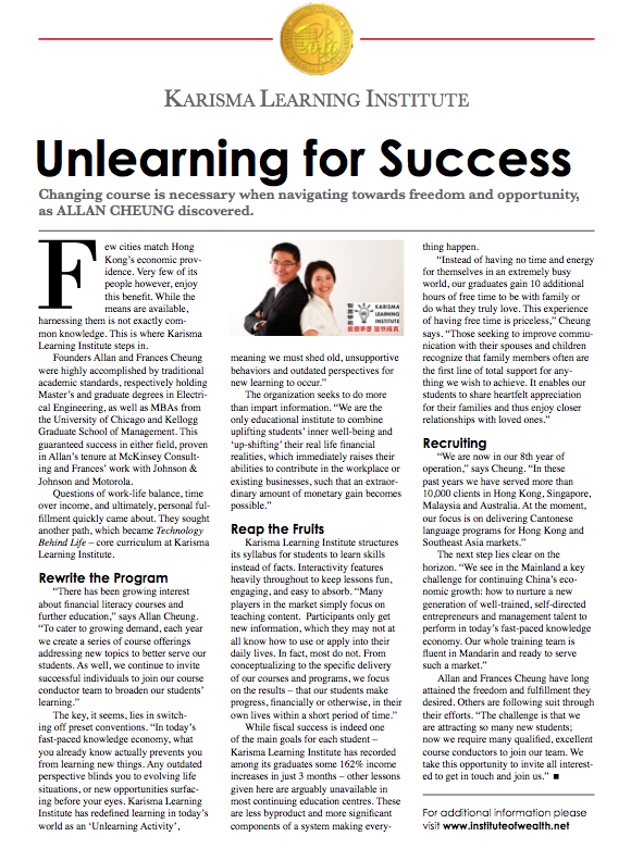 Mediazone Unlearning For Success Karisma Learning Institute
